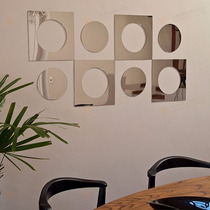 Espelhos Decorativos Acrílico Circulos Sala Quarto Grande