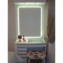 Espelhos Bisote C/ Iluminação Luz Led E Controle Remoto
