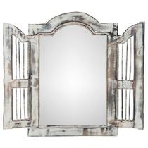 Espelho Com Moldura Decorativa Janela Bali - 55cm X 40cm