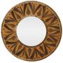 Espelho Redondo C/ Moldura Mandala Rústica 60cm - Arte Bali