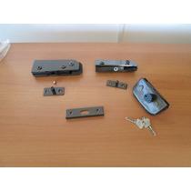 Kit Porta Pivotante Bronze Vidro Temperado Madeira Ate 10mm