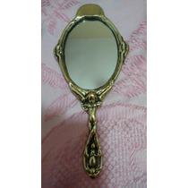 Promoção - Espelho De Mão Bronze Cabo De Anjo