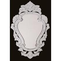 Espelho Bisotado Para Sala Jantar Vintage