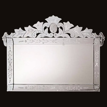 Espelho Veneziano Para Sala Jantar Retangular Grande