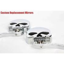 Retrovisores P/ Harley Davidson Caveira Chopper/custom