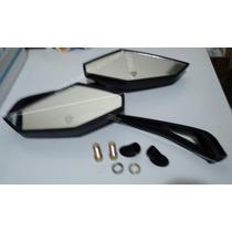 Retrovisor Apache Esportivo Pto Haste Aluminio Lente Convexa