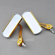 Par De Retrovisor Dourado Em Aluminio -universal 10mm
