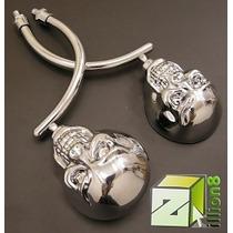 Espelho Skull Caveira Cromado Chopper/triciclo/custom