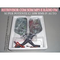 Espelho Retrovisor Mp3 E Radio Fm