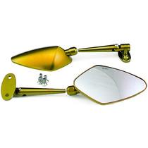 Espelho Retrov Em Aluminio (par) Hon-cbr250r Dourado