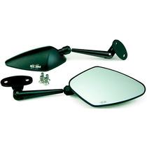Espelho Retrov Em Aluminio (par) Hon-cbr250r Preto