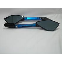 Retrovisor Mod. Rizoma Ninja 300 Azul Leg Racing