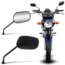Retrovisor Moto Pro Tork Titan 125 00 Preto Com Espelho Par