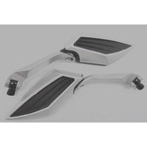 Retrovisor Base Aluminio Cor Cinza Hornet Xj6 Z750 Cb300