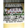 Revista-poster Futebol Santos Campeão Paulista 15 Vezes