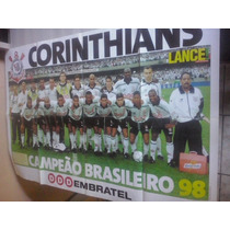 Revista Poster Gigante Corinthians Campeão Brasileiro 1998