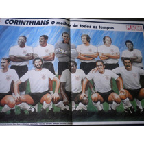 Poster Corinthians Melhor Time Todos Tempos Placar 42 X 27cm