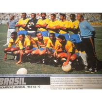 Poster Seleção Brasileira Tri Campeã Copa Mundo 70 21x27 Cm