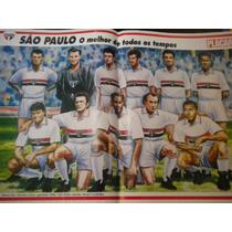 Poster São Paulo Melhor Time Todos Os Tempos Placar 42 X27cm