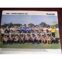 Miniposter Ceará Campeão Cearense 1986 Placar Frete Gratis