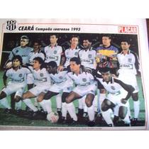 Miniposter Ceará Campeão Cearense 1993 Placar Frete Gratis