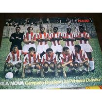 Placar Com Poster Villa Nova Campeão Brasileiro 1971 Mirandi