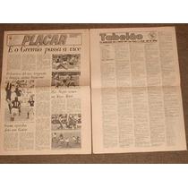 Jornais Tabelão Da Placar De 1972 A 1974 Bolão Tabelão