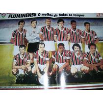 Poster Fluminense Melhor Time De Todos Os Tempos Placar