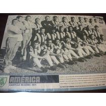 Poster América Campeão Mineiro 1971 21x27 Cm Placar