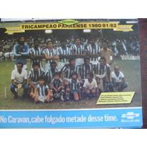 Miniposter Paysandu Tri Campeão Paraense 1982- Era Da Placar