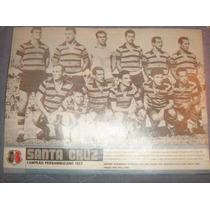 Santa Cruz Poster Campeão Pernambucano 1957 21x27 Cm