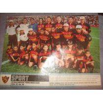 Sport Poster Tetra Campeão Pernambucano 1999 21x27 Cm
