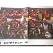 Poster Vitória Da Bahia Campeão Baiano 1985 Placar
