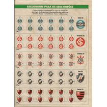Escudinho Futebol De Botão Placar + Poster De Mirandinha.