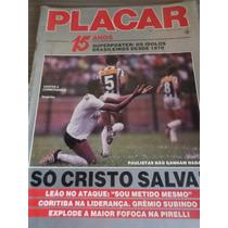 Revista Placar Com Poster 15 Anos Pelé Zico Piquet Tostão