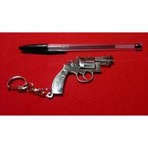 Frete Grátis Chaveiro Miniatura Metal Revolver Arma Tiro