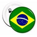 Botons Bandeira Do Brasil - 20 Unidades 2,5cm - Buttons/pins