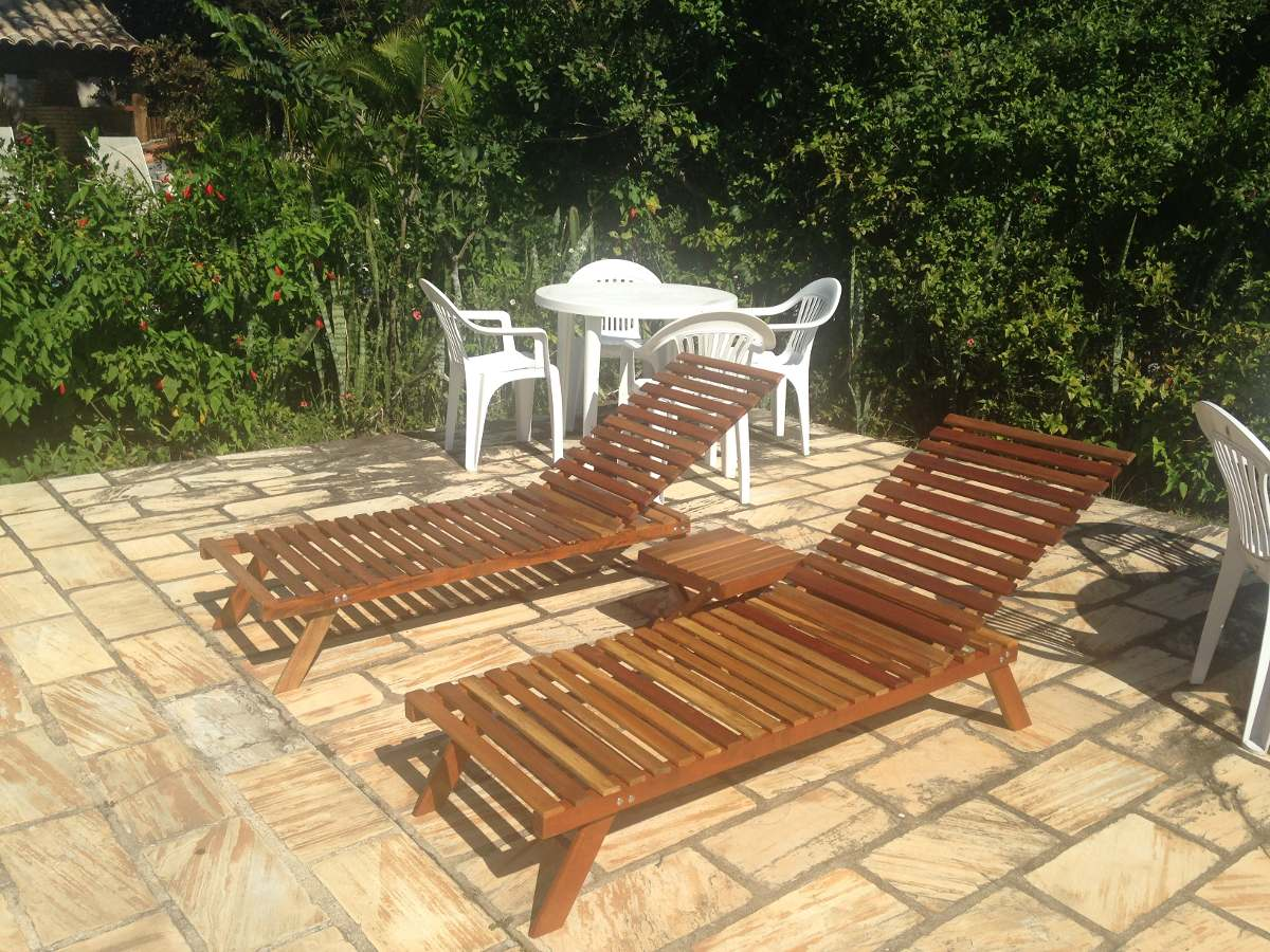 Espreguiçadeira Cadeira Piscina / Varanda / Praia Madeira R$ 230 00  #A17E2A 1200x900