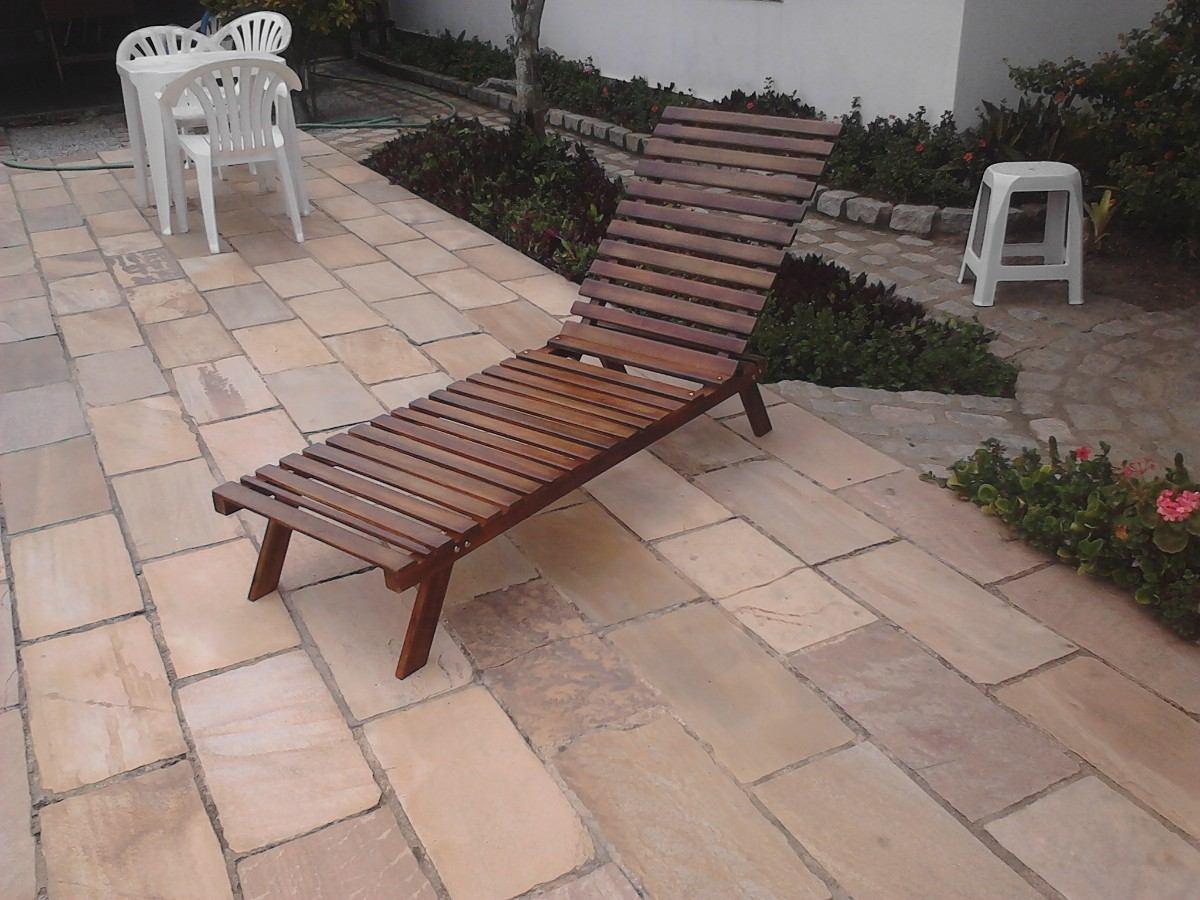 Espreguiçadeira Cadeira Piscina / Varanda / Praia Madeira R$ 230 00  #815D4A 1200x900