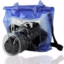 Capa Entanque Bolsa Prova Dágua Sony Nikon Canon Dslr E Slr