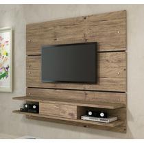 Rack Tv Painel Suspenso 1,36x1,65 Alto Padrão Rustico+brinde