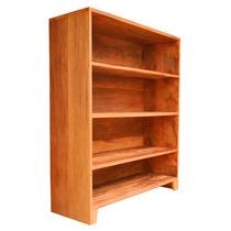 Estante Para Livros Em Madeira De Demolição Com 4 Divisorias