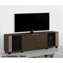 Rack Thor Castanho / Noce - C/ 8 Rodízios E Portas De Correr