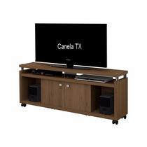 Rack Centurion Para Sala Canela Tx Com Rodizio Tv Ate 50