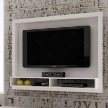Painel Para Tv Branco Br 420-06 Em Mdp - 147x114 Cm