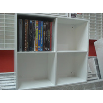 Estante Nichos Porta Dvds E Objetos Cor Branca