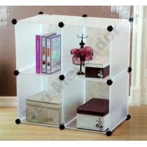 Estante Com 4 Cubos Para Decoração Organização Quarto E Sala