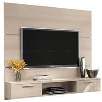 Painel Suspenso Flat Plus Tv Led Plasma Sala Cor Naturale