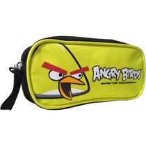Estojo Angry Birds Juvenil Amarelo C/ 1 Divisória