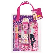 Kit Estojo Escolar Bag Set Barbie 8pç Penal Lápis Régua Etc